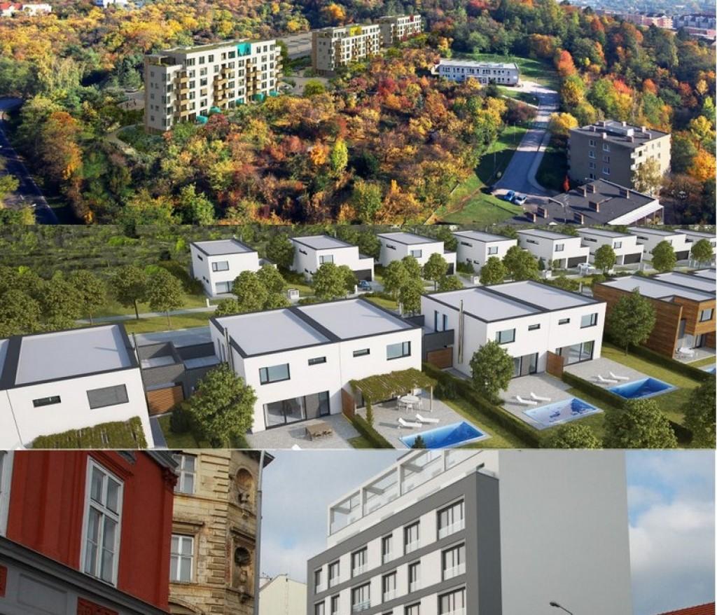 Brno - kde a co staví developeři? Domy, byty, pozemky i kanceláře v roce 2016